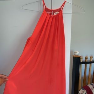 Pleated corral dress
